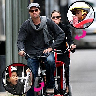 PEDAL PUSHERS photo | Angelina Jolie, Brad Pitt, Maddox, Zahara Jolie-Pitt