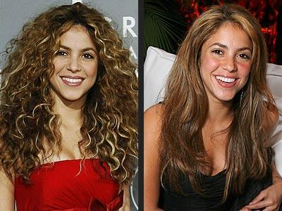 Шакира с макияжем и без