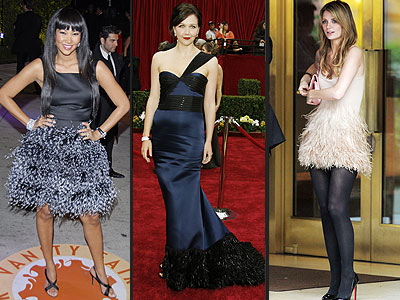 penelope cruz red carpet dress. Red Carpet Style: Feathered