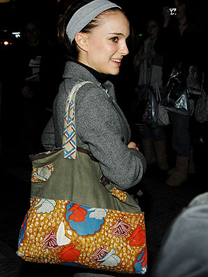 Get the Look: Natalie Portman's Fabric Tote