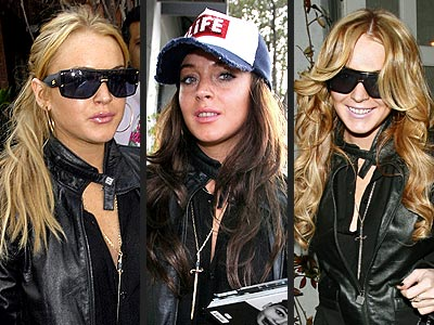 UPDATE:Lindsay Lohan's Three Hairstyles in One Day!