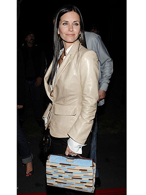 Courteney Cox Arquette totally fooled us with this adorable printed tote!