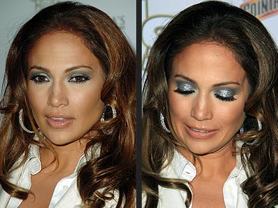 Jennifer Lopez  Makeup on Jennifer Lopez Eye Makeup