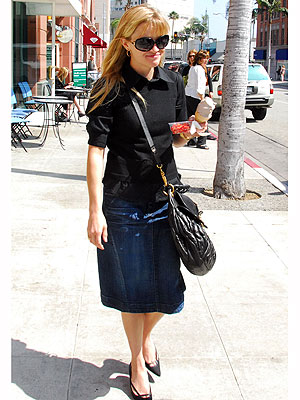 We've noticed Reese Witherspoon wearing her Earnest Sewn skirt tons in