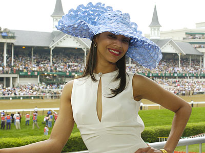 Bid on Zoe Saldana's Kentucky Derby Hat for Charity