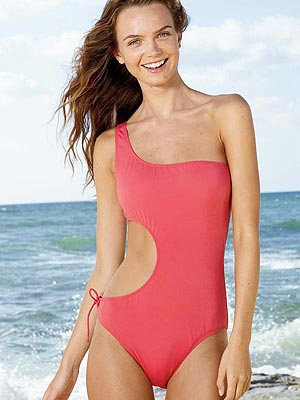 Trina Turk Dress on One Piece Cut Out Swimsuit
