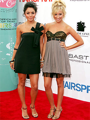 vanessa hudgens up hairstyles. Vanessa showed some leg in