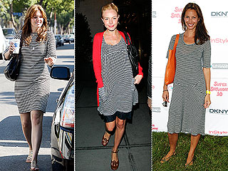 Trend Alert: Striped T-Shirt Dresses | Christy Turlington, Kate Bosworth, Mandy Moore