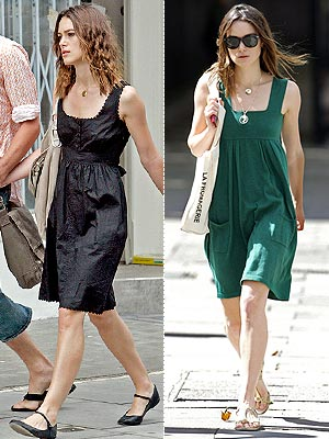 Summertime and the shopping is easy, at least for Keira Knightley.