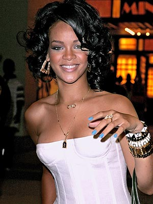 rihanna hottest photo. off the hottest nail hues