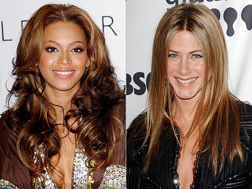 Choose from over 100 celebrity hairstyles, like Jennifer Aniston's sleek 'do