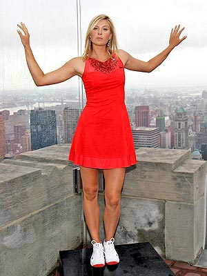 maria sharapova tennis shoes. Maria Sharapova Gets Glam for