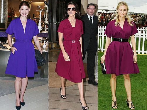 like Debra Messing (in Gaultier) or Penelope Cruz (in Christian Dior),