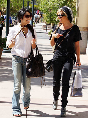 Who Has Better Street Style: Vanessa or Ashley? Steve Levy/INF