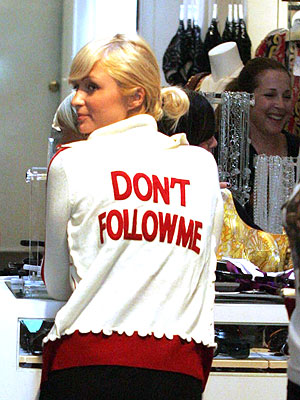 Get the look paris hilton s message sweater style news