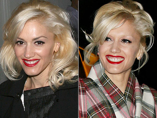 but lately, she's stuck to a classic '50s combo of platinum hair and red