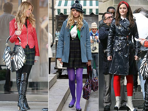 From Blake Lively's Coach boots, to Leighton Meester's designer dress, ...