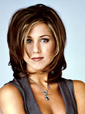 "Check out the star's evolution from the iconic ""Rachel"" cut to her"