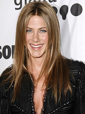 jennifer aniston long straight hair. STRAIGHT