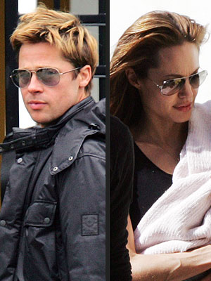 RAY BAN SUNGLASSES  photo | Angelina Jolie, Brad Pitt
