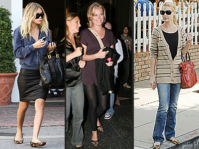 LEOPARD PRINT FLATS photo | Ashley Olsen, Katherine Heigl, Rebecca Romijn