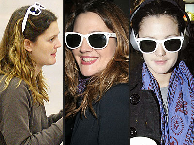 LINDA FARROW VINTAGE SUNGLASSES  photo | Drew Barrymore