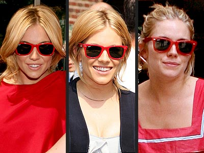 RAY BAN SUNGLASSES  photo | Sienna Miller