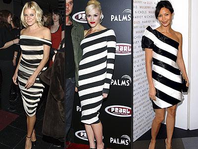 BOLD STRIPED DRESSES photo | Gwen Stefani, Sienna Miller, Thandie ...