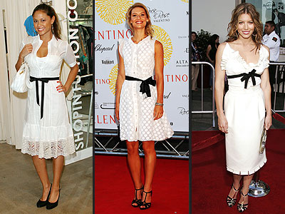 WHITE AND BLACK DRESSES photo | Claire Danes, Jessica Biel, Vanessa Minnillo
