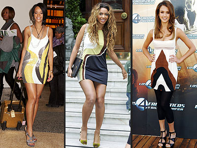 GRAPHIC DRESSES  photo | Beyonce Knowles, Jessica Alba, Rihanna