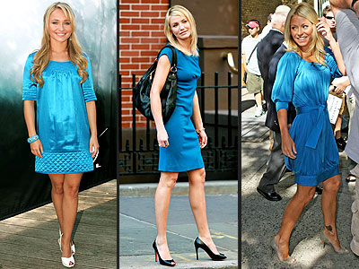 TURQUOISE DRESSES photo | Cameron Diaz, Hayden Panettiere, Kelly Ripa