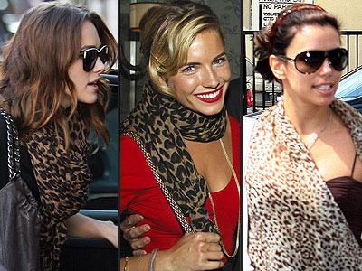 LEOPARD-PRINT SCARVES photo | Eva Longoria, Keira Knightley, Sienna Miller