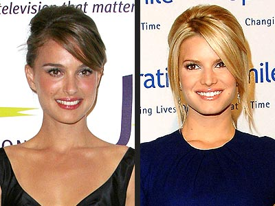 TEASED UPDO  photo | Jessica Simpson, Natalie Portman