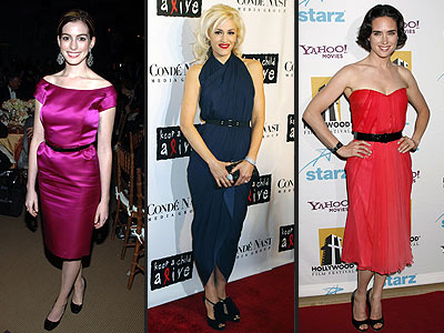 SKINNY BELTED DRESSES photo | Anne Hathaway, Gwen Stefani, Jennifer Connelly