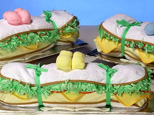 alfa img showing diaper cake baby shower sandwiches