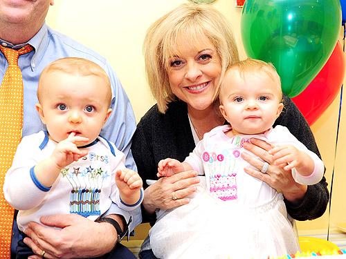 Nancy Grace Celebrates Twins' First Birthday!