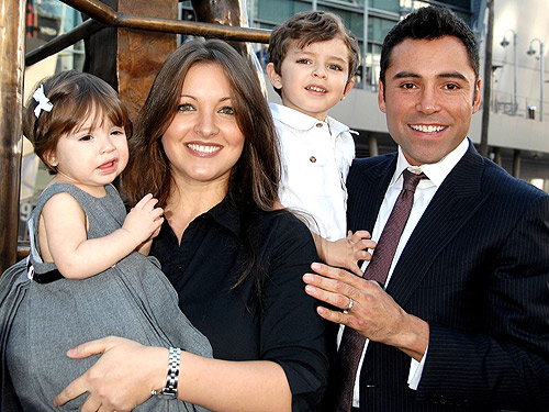 Photo of Oscar de la Hoya & his  Son  Oscar Gabriel De La Hoya