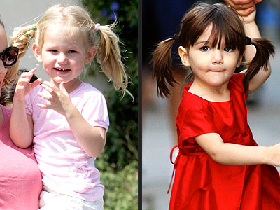 From Kingston's curls to Suri's pigtails, see how to get the looks of