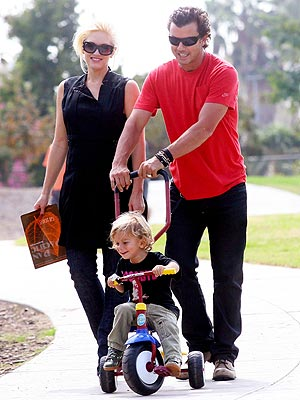 BIG WHEELS photo | Gavin Rossdale, Gwen Stefani, Kingston Rossdale
