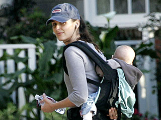 Bridget Moynahan Takes Her Son for a Stroll | Bridget Moynahan
