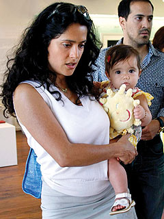 Salma Hayek Breastfeeds Another Woman's Baby