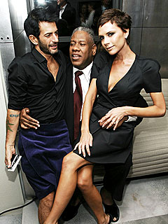 Posh & Marc Jacobs Chat on Andre Leon Talley's Lap! | Andre Leon Talley, Marc Jacobs, Victoria Beckham