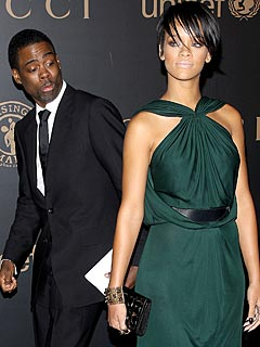 Chris Rock Gets a Good Look at Rihanna