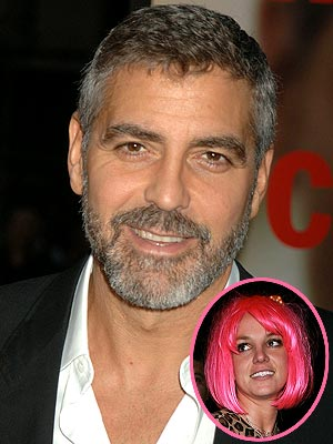 photo | Britney Spears, George Clooney
