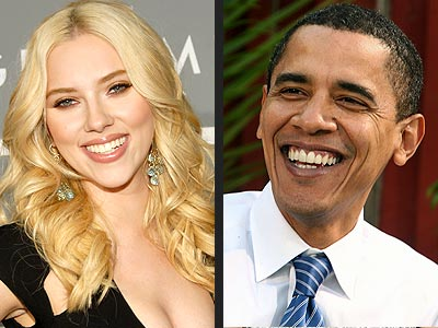  photo | Barack Obama, Scarlett Johansson