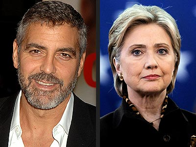 photo | George Clooney, Hillary Rodham Clinton