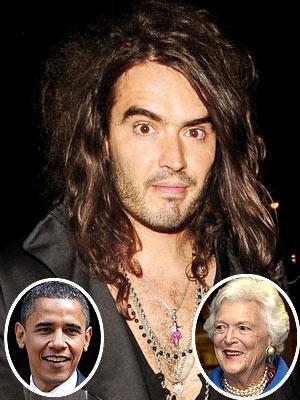 photo | Barack Obama, Barbara Bush, Russell Brand
