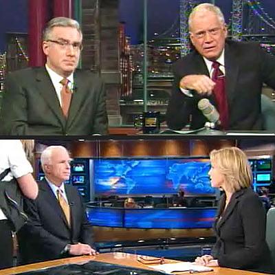 photo   David Letterman, John McCain
