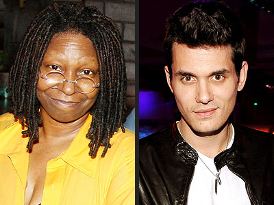 photo | John Mayer, Whoopi Goldberg