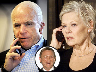 photo | Daniel Craig, John McCain, Judi Dench